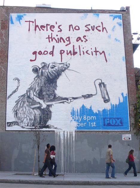 Изображение 23. Banksy (уличная мышь – герой).. Изображение № 23.