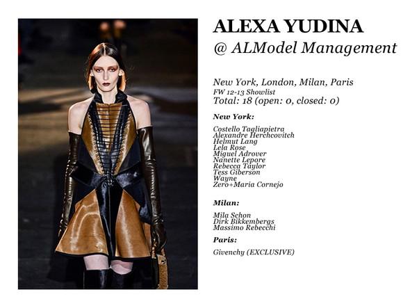 Al Model Management: Сезон показов осень-зима 12.13. Изображение № 2.