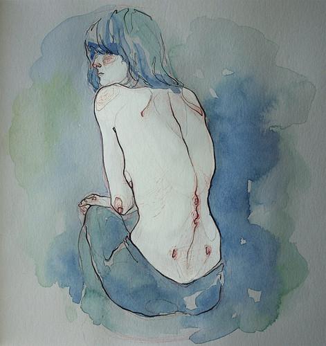 Чувства; карандашом и акварелью. Изображение № 4.