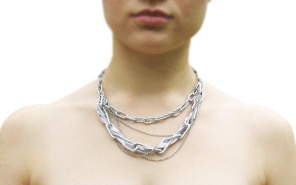Ожерелья из цепей гаек и сантехнического шнура. Часть1. Изображение № 22.