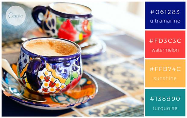 Сервис Canva предложил 100 удачных сочетаний цветов. Изображение № 96.