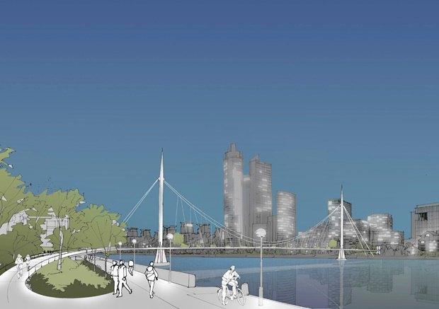 Выложены 74 проекта нового моста через Темзу. Изображение № 63.
