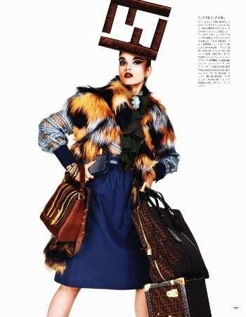 Съёмка: Кристал Ренн для Vogue. Изображение № 9.