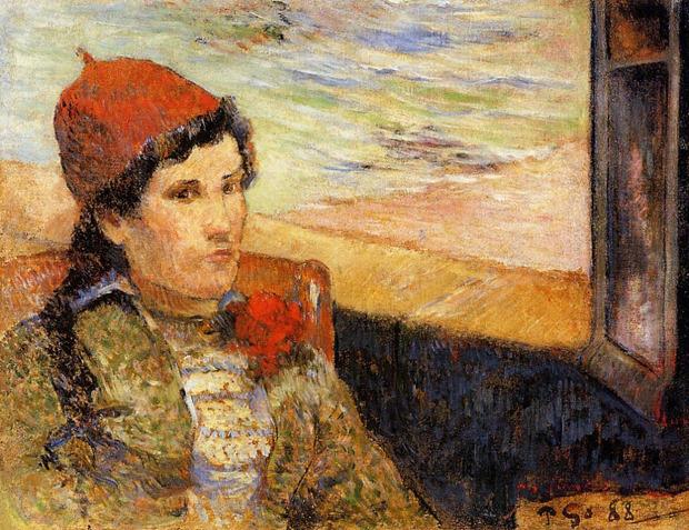 Поль Гоген «Женщина перед открытым окном» . Изображение № 1.