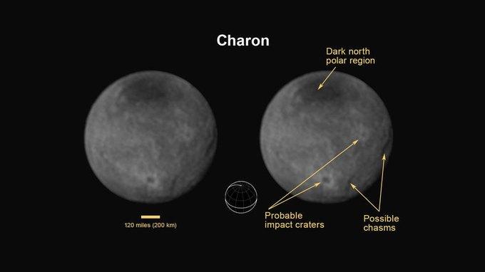 NASA опубликовало новые фото Плутона и Харона . Изображение № 4.