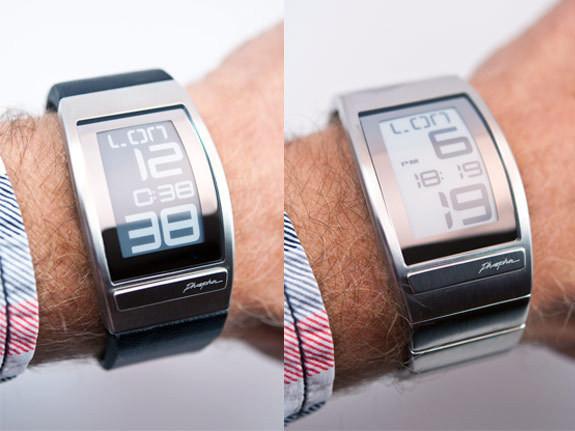 Часы Phosphor WORLD TIME с дисплеем из электронной бумаги. Изображение № 1.