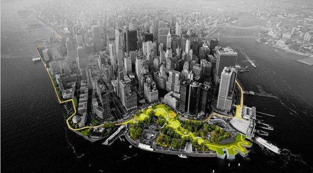 Нью-Йорк обнесут гигантской дамбой. Изображение № 1.