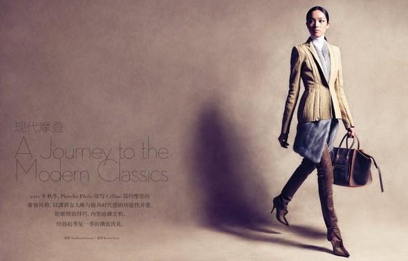 Съёмка: Сунь Фэй Фэй и Мин Си в Celine для Vogue. Изображение № 2.