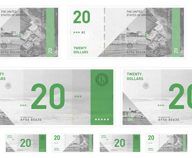 Студент представил редизайн банкнот американского доллара. Изображение № 3.