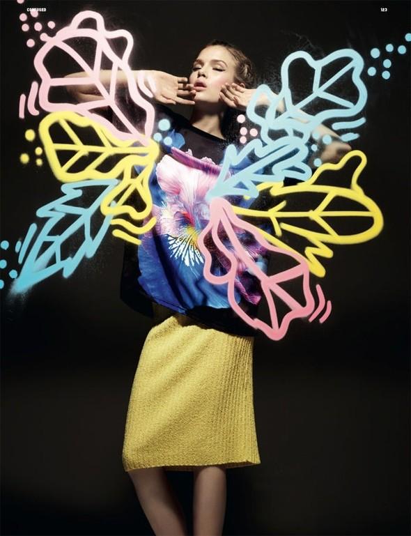Жозефин Скривер для декабрьского Dazed & Confused. Изображение № 5.