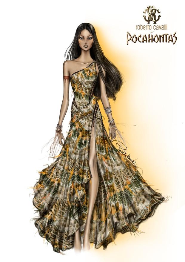 10 платьев диснеевских принцеcc от мировых дизайнеров в Harrods. Изображение №9.