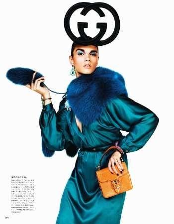 Съёмка: Кристал Ренн для Vogue. Изображение № 8.