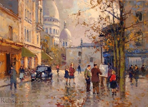Эдуард Леон Кортес. Перенесёмся в Париж. Изображение № 14.