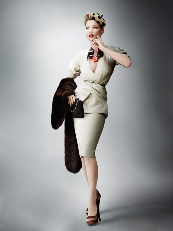 Съёмка: Кейт Мосс для британского Vogue. Изображение № 1.