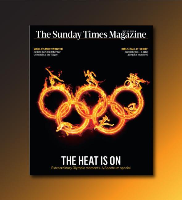 Олимпийские обложки недели: Инсталляции из красных автобусов и сотни открыток. Изображение № 8.
