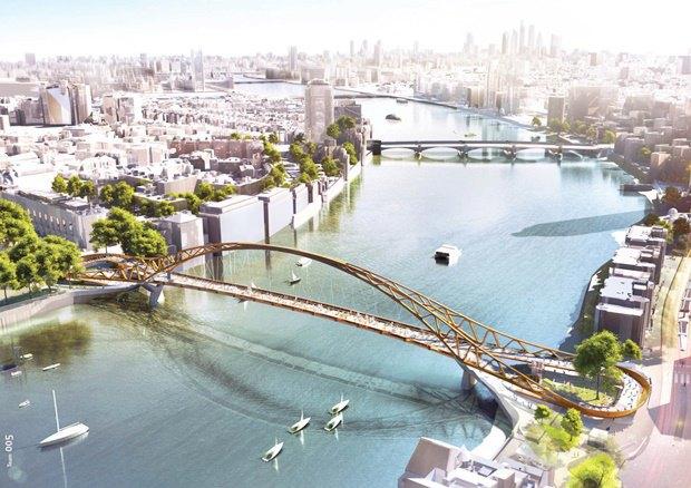 Выложены 74 проекта нового моста через Темзу. Изображение № 71.