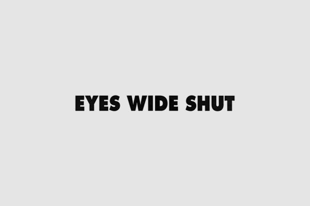 Шрифт с постера для фильма «С широко закрытыми глазами». На нём использованы Futura, Bee Three. Изображение № 9.