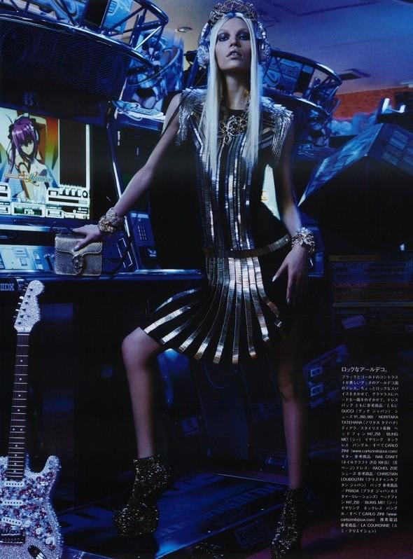 Элин Вебер The Girl Who Rocks The Planet в апрельском Vogue Япония. Изображение № 7.