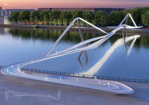 Выложены 74 проекта нового моста через Темзу. Изображение № 52.