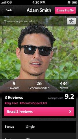 Новое приложение Lulu позволяет оценивать парней. Изображение № 4.