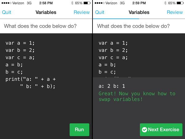Приложение для iPhone поможет научиться программировать. Изображение № 1.
