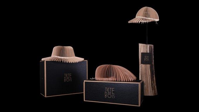 Итальянский дизайнер создал головные уборы из красного дерева. Изображение № 7.