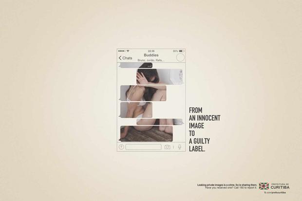 Агентство создало постеры для кампании против порномести. Изображение № 1.