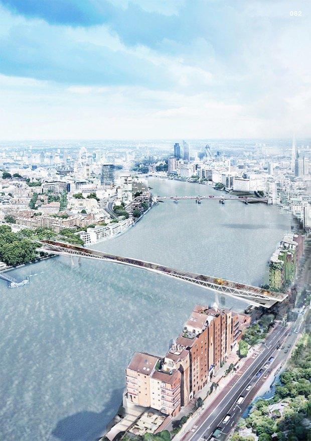 Выложены 74 проекта нового моста через Темзу. Изображение № 51.