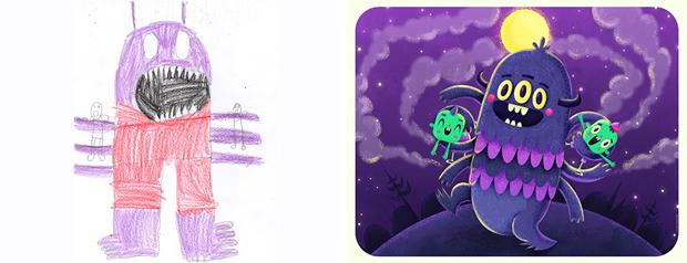 Художники создали монстров наоснове детских рисунков. Изображение № 7.