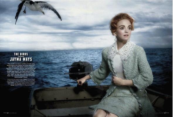 Съёмка: Актрисы из «Хора» и «Американской Истории Ужасов» для Elle. Изображение № 5.