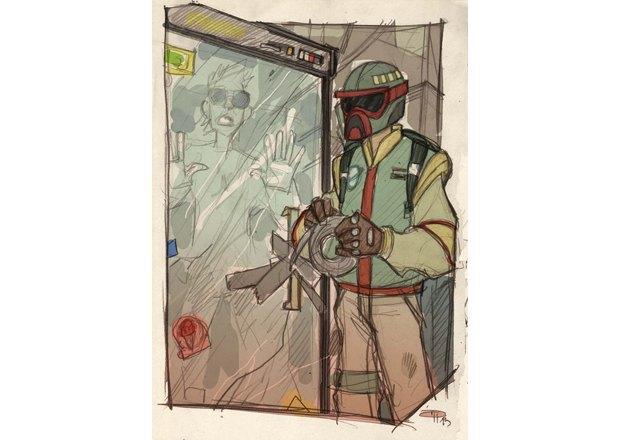 Дизайнер представил героев «Звёздных войн» в стиле 80-х. Изображение № 23.