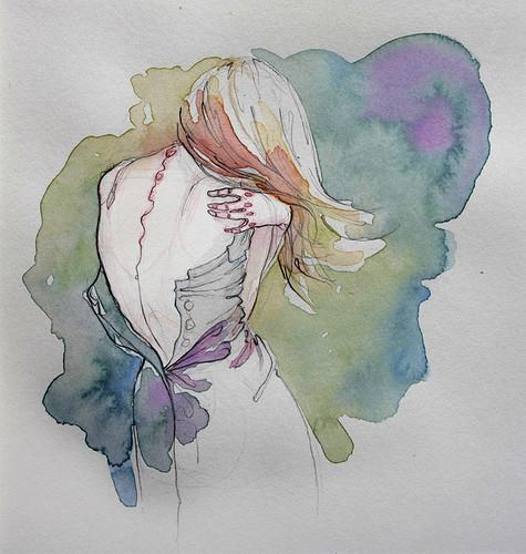 Чувства; карандашом и акварелью. Изображение № 6.