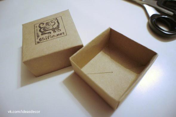Простая подарочная коробочка, без использования клея. Изображение № 9.