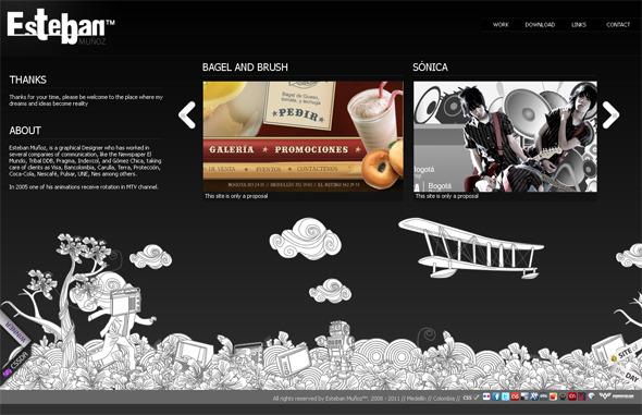 Ручная работа. Дизайн сайтов с рисованными элементами. Изображение № 18.