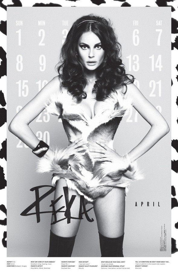 Съёмка: Календарь журнала LoveCat на 2012 год. Изображение № 5.