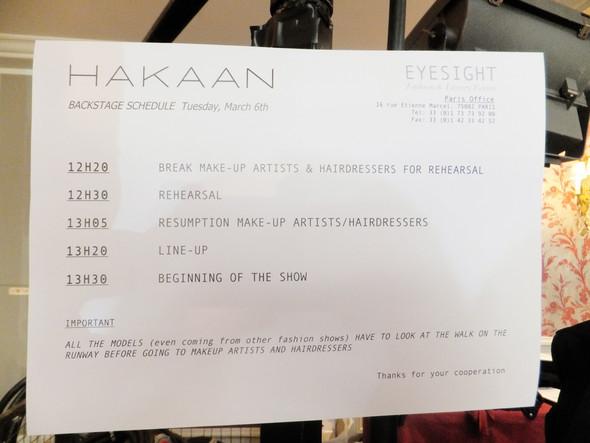 Бэкстейдж показа Hakaan. Изображение № 4.