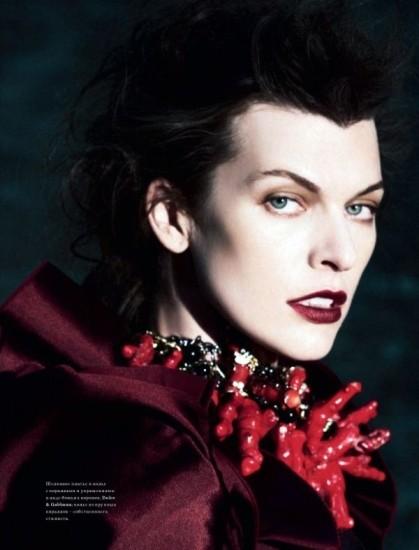 Mila Jovovich. Harper's Bazaar, sept-2009. Изображение № 3.