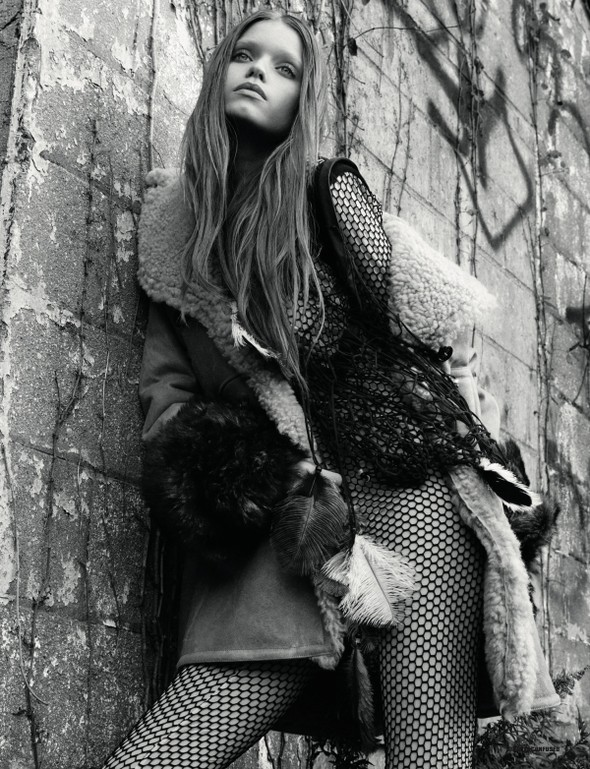 Abbey Lee Kershaw для Dazed & Confused. Изображение № 4.