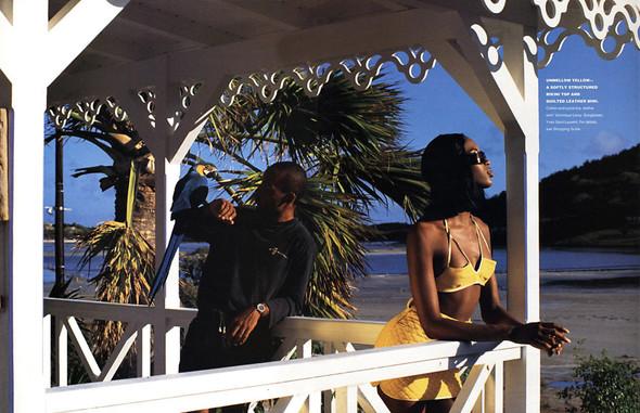Архивная съемка: Наоми Кэмпбелл для американского Elle, 1994. Изображение № 3.