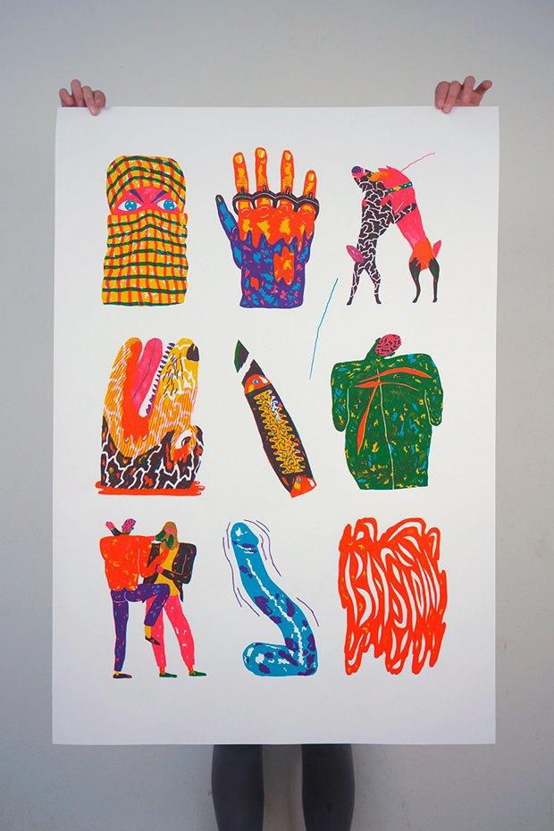 50 постеров, которые вдохновляют заняться шелкографией. Изображение № 19.