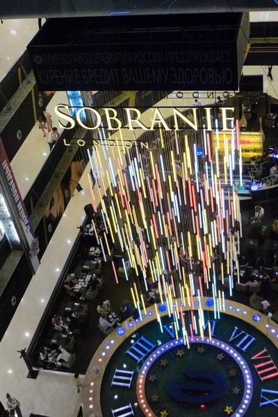 SOBRANIE LIGHT SYMPHONY интерактивная световая инсталля. Изображение № 1.