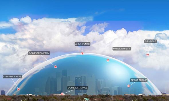 Инженеры предложили спрятать Хьюстон под купол. Америка. Изображение № 1.
