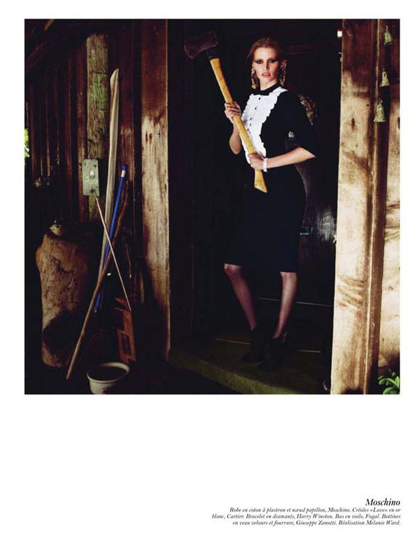 Съёмка: Аризона Мьюз, Лара Стоун, Наташа Поли и другие модели во французском Vogue. Изображение № 28.