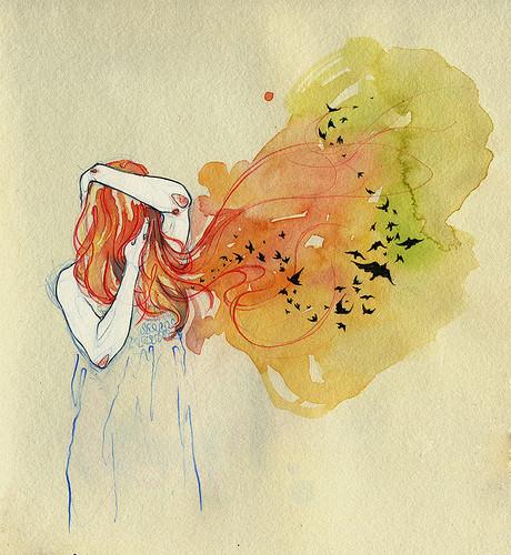 Чувства; карандашом и акварелью. Изображение № 10.