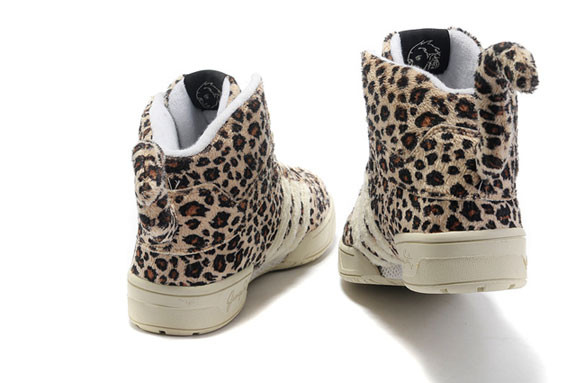 Adidas JS Leopard Tail High Top Shoes. Изображение № 2.