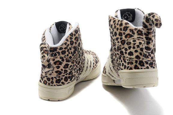 Adidas JS Leopard Tail High Top Shoes. Изображение № 2.