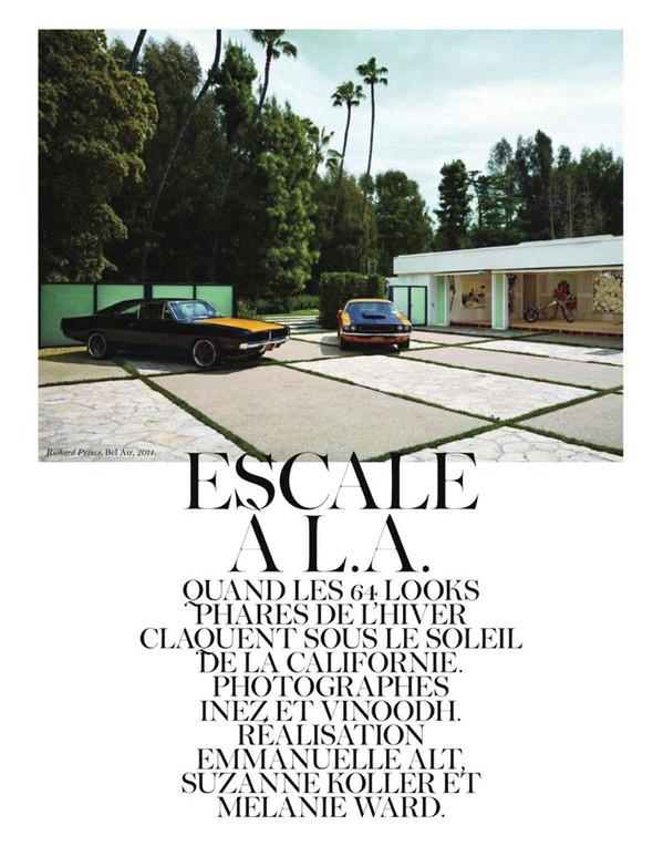 Съёмка: Аризона Мьюз, Лара Стоун, Наташа Поли и другие модели во французском Vogue. Изображение № 25.