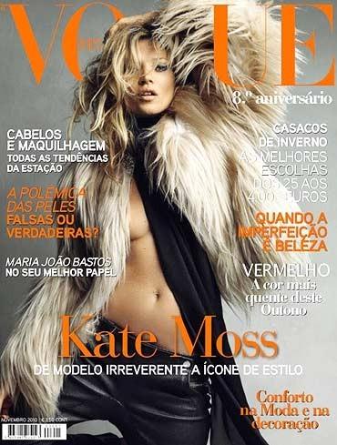 Кейт Мосс на обложках vogue. Изображение № 34.