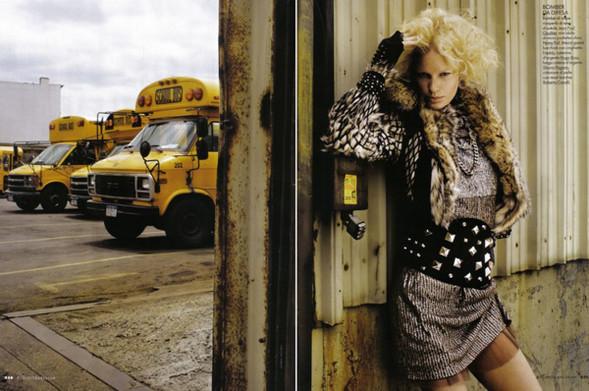 Каролин Винберг дляоктябрьского Elle Italia. Изображение № 7.