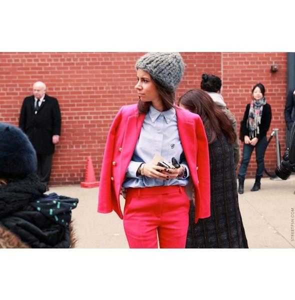 Изображение 24. На полях: 10 тенденций уличного стиля с прошедших недель моды.. Изображение № 24.